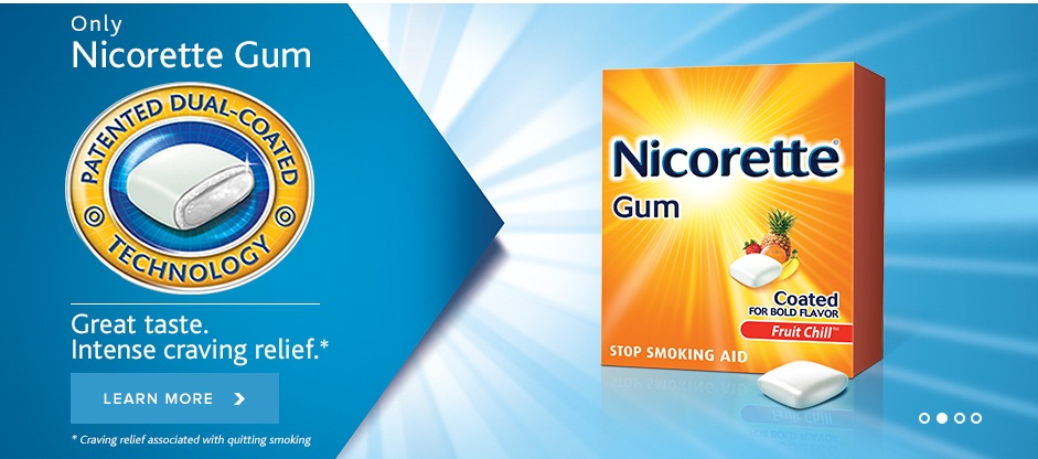 Only Nicorette Gum. Great Taste. Intense craving relief