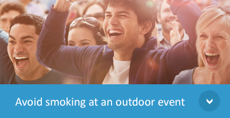 Avoid smoling at an outdoor event