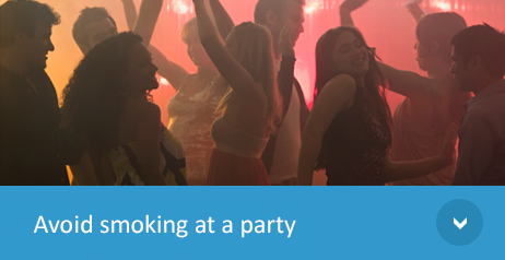 Avoid smoking At A Party